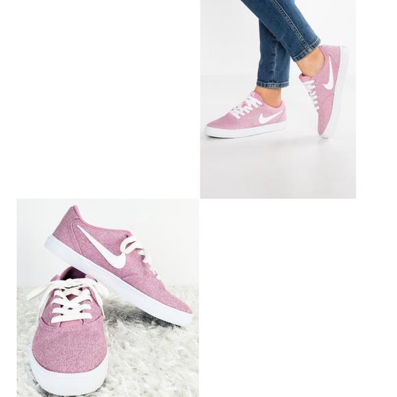 New Nike Sb Check Solarsoft Pink White